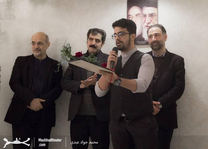 محسن شهرکی بهترین خوانشگر جشنواره ی تئاتر  فجر مشهد
